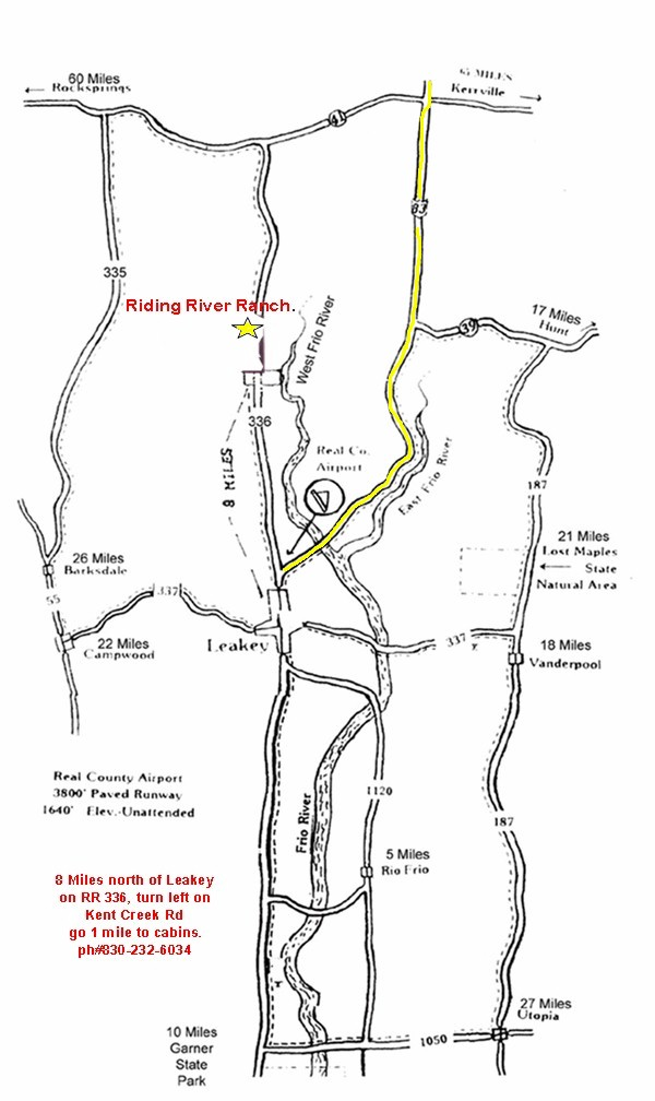 Map of Riding River Ranch